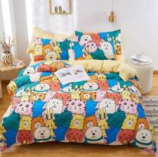 3D Animal Pattern NAO7087 Bed Pillowcases Quilt Duvet Cover Set Queen King Fay