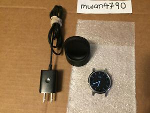 Motorola Moto 360 2nd Gen 42mm SILVER Smartwatch - NO BANDS - EXCELLENT!