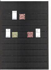 N°624 - BADEN - ( 1862-68 ) 3 timbres oblitérés