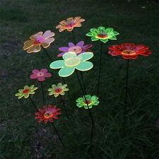 11 Pcs Sun Catcher Decorative Garden Edge Acrylic Glass Flowers Ornament Decor