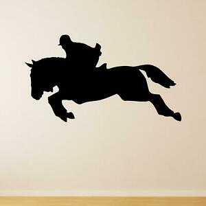 Show Jumping Silhouette Horse Riding Animal Wall Sticker Decal Sport Vinyl UK