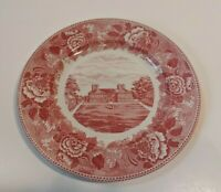 Old English Staffordshire Ware Pink Stratford Hall Collector's Plate