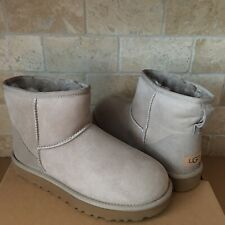 UGG Classic Mini II Oyster Water-resistant Suede Ankle Boots Size US 6 Womens