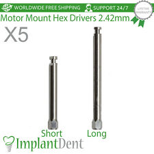 5 Motor Mount ( Low Speed ) Hex Drivers 2.42mm Dental Implant Abutments