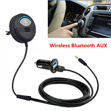 Car Air Vent Wireless Bluetooth Audio Stereo Music Player AUX Noise Cancelling