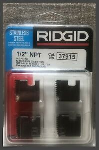 "Ridgid® 37915 Manual Threader Pipe & Bolt Dies - 1/2"" NPT - HSS for Stainless RH"