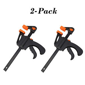 Woodworking Bar Clamp Quick Grip Ratchet Clamps F-style 6 Inch 2-Pack