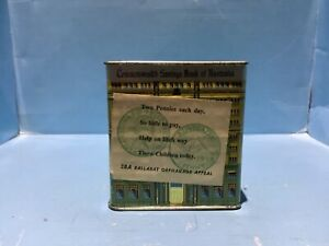 VINTAGE AUSTRALIAN COMMONWEALTH BANK MONEY BOX WITH CHARITY LABELS RARE ITEM