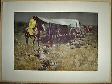 """Franklin Mint EMBOSSED Art Lithograph Print """"Noon Chuck"""" SIGNED - James Reynolds"""