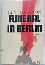 Len Deighton - FUNERAL IN BERLIN - 1965 1st US Edition, Very Neatly flat SIGNED