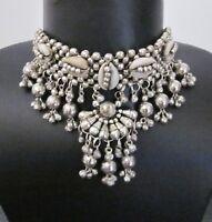 Shell Collar Necklace Choker Statement Boho Gypsy Gothic Punk Kuchi Tribal Style