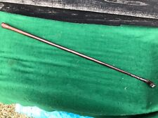 """Antique Usable Hunting Riding Crop Whip Leather Covered shaft 27"""" Bulbous End"""