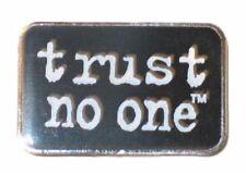 "The X-Files TV Series ""Trust no one"" Logo Metal Enamel Finish 1"" Wide Pin"