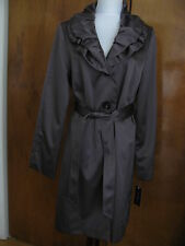 Tahari women's concrete stylish lined coat size large NWT