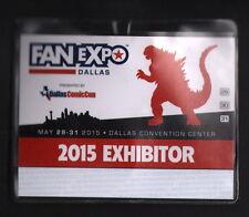 2015 Dallas Fan Expo FanExpo Con Comic Convention Exhibitor Badge GODZILLA