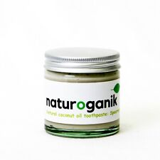 2 Jars (60 ml) of Natural Coconut Oil Toothpaste with Spearmint Freshness