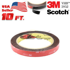Genuine 3M VHB #5952 Double-Sided Mounting Foam Tape Automotive Car 12mm x 10FT