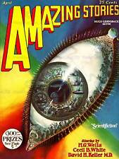 Comics amazing stories oeil fenêtre wells sci fi usa art imprimé posterabb 6366B