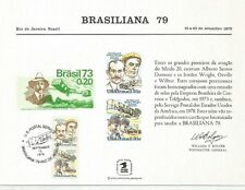 1979 USPS Scott PS29 Brasiliana, Brazil U. S. Souvenir Card  6 x 8 cancelled