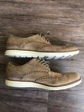 Cole Haan Grand OS Mens Shoes Suede Tan Wingtip Oxfords C24088 10 m Lunargrand