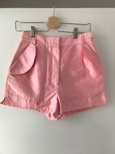 PPQ OF MAYFAIR PINK SILK SHORTS SIZE 8