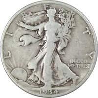 1934 D 50c Liberty Walking Silver Half Dollar US Coin Average Circulated
