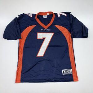Vintage 90s Denver Broncos John Elway Jersey Size 48 Large Blue Starter NFL