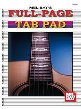 Full-Page Tab Pad by Mel Bay Publications (Paperback / softback, 1997)