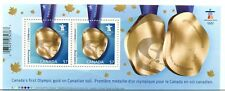 First Olympic Gold Medal on Canadian Soil 2010   -- souvenir sheet Canada mint