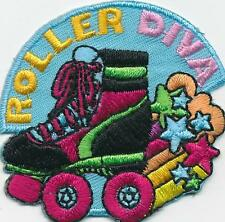 Boy Girl ROLLERSKATING DIVA Roller Skating Fun Patches Crest Badges GUIDE SCOUT