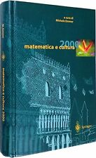 MATEMATICA E CULTURA 2000 Emmer SPINGER VERLAG 2000