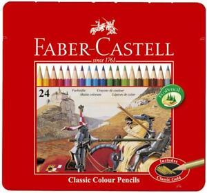 FABER-CASTELL Hexagonal-Buntstifte Malstifte CASTLE, 36er Metalletui