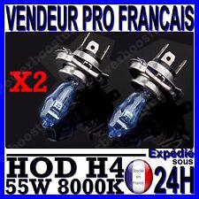 LOT 2 AMPOULE PLASMA HOD H4 55W LAMPE HALOGENE EFFET XENON GAZ BLANCHE 8000K 12V