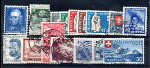 Switzerland used interesting collection Cat Val £100 WS12084