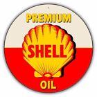 Shell Oil Vintage Metal Sign gasoline can old style garage bar man cave C002