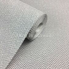 Cotton Tweed Wallpaper by Crown - Soft Grey M1116
