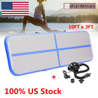 Gofun Inflatable Air Track Floor Home Gymnastics Tumbling Yoga Mat GYM US