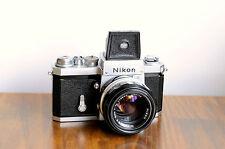 NIKON F1   35mm film camera   w/ Rare Waist level Viewfinder & 50mm f/1.4 Lens