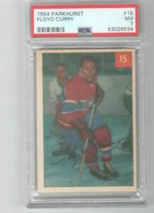 1954 Parkhurst # 15 Floyd Curry PSA 7 Montreal Canadiens
