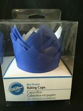 Blue Pleated Baking Cups from Wilton New Free Shipping
