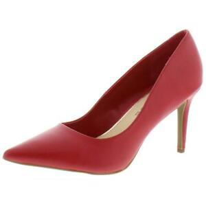 Rampage Womens Fabre Red Faux Leather Dress Heels Shoes 9 Medium (B,M) BHFO 8546