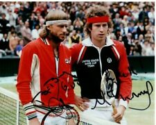 BJORN BORG & JOHN MCENROE Signed TENNIS Photo w/ Hologram COA
