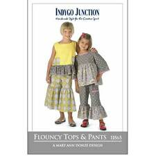 """INDYGO JUNCTION """"FLOUNCY TOPS & PANTS"""" Sewing Pattern"""