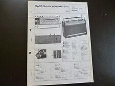 Original Service Manual  SABA Transeuropa de Luxe Automatic