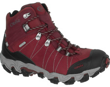 New Oboz Womens Bridger Mid BDry Waterproof Red Hiking Boots Size 8