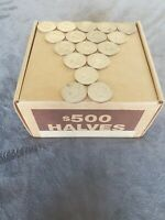 1 Box, 50 Bank Wrapped Rolls of Kennedy Half Dollars. Unsearched $500 Face Value