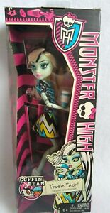 New in Box 2013 Monster High Doll: Frankie Stein - Coffin Bean