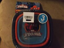 Kids Character Snack Containers - Set of 3 - Spiderman