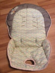 Ingenuity High Chair Trio 3 In 1 SEAT COVER Cushion Replacement Part Beige Brown