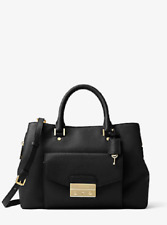 NEW Michael Michael Kors Leather Haley Large Satchel Handbag Shoulder Bag Purse